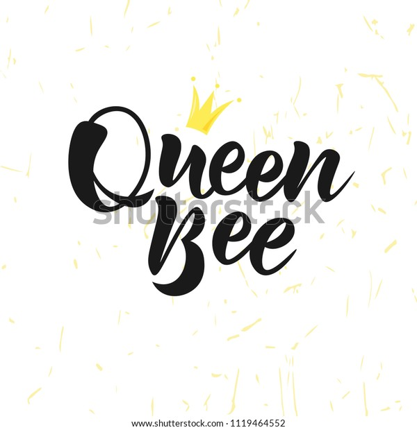 Vector De Stock Libre De Regalías Sobre Texto De Queen Bee