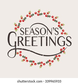 Seasons greetings images stock photos vectors shutterstock hand sketched seasons greetings logotype badge and icon typography drawn lettering typography for christmas m4hsunfo