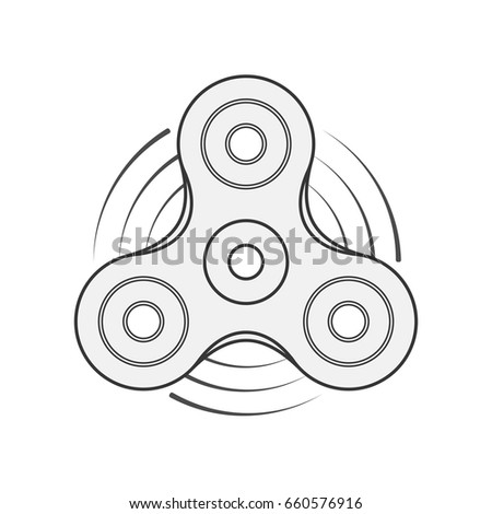hand spinner vector template stock vector royalty free 660576916