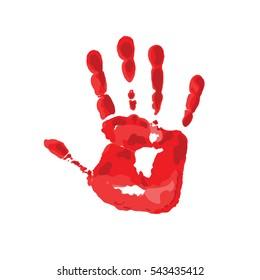 Hand stop. Vector illustration