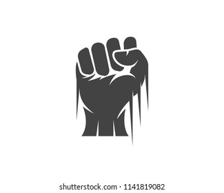 Hand strong vector icon illustration logo template