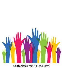 Hand symbol community vector icon