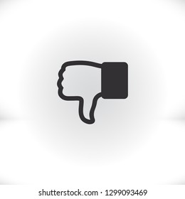 hand with thumb down  icon. Vector  Eps 10