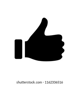 Hand Thumb Up icon flat