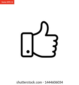 hand thumb icon line art style