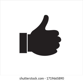 Hand Thumb Up icon in trendy flat style.vector Like symbol Illustration isolated on white background.