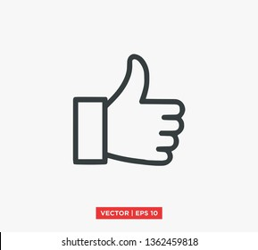 Hand Thumbs Up Icon Vector Illustration