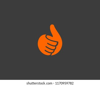 Hand, thumbs up vector logo. Like, fingers logotype.