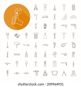Hand tools icons , eps10 vector format