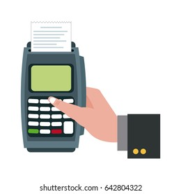 hand touch finger dataphone online pay shopping
