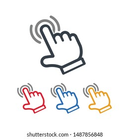 Hand touch icon for graphic and webs design