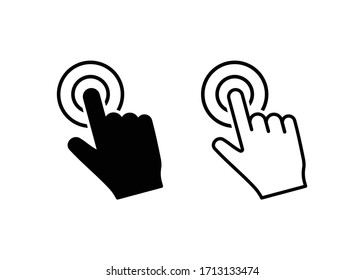 Hand Touch icon vector. Touch icon vector