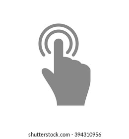 Hand touch / tap gesture line art icon for apps and websites Vector