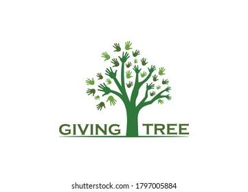 Hand Tree Logo (GIVING TREE LOGO for Multipurpose Used)