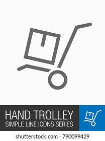 Hand Trolley icon, moving symbol