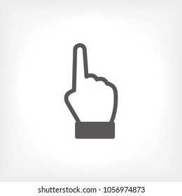 Hand vector icon, forefinger icon