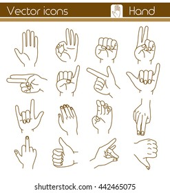 Hand, Vector  icons.