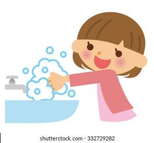 Hand wash child