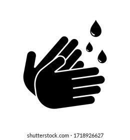 hand wash icon symbol vector. isolated. white background.eps10 editable