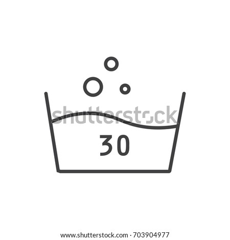 Hand Wash Symbol Wash Care Laundry Stock Vector Royalty Free