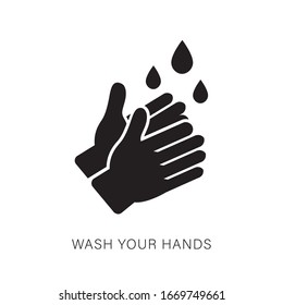 Hand Washing Flat Icon Isolated on white Vector.