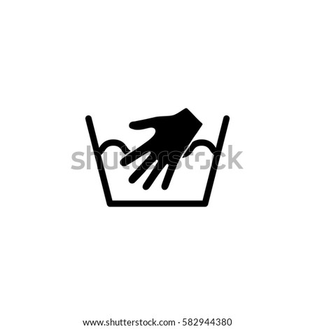 Hand Washing Laundry Symbol Simple Icon Stock Vector Royalty Free