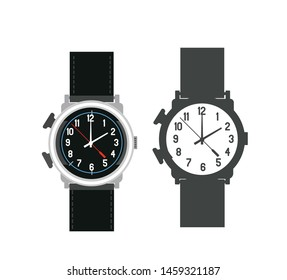 Hand watch, Watch, Time, Clock, Icon