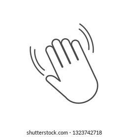 Hand wave icon. Vector illustration, flat design.