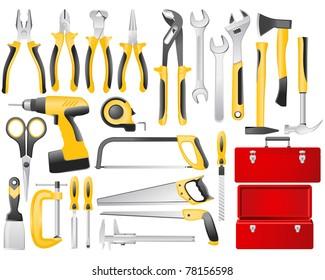 Hand work tools set