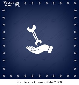 hand wrench icon