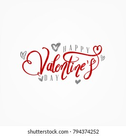 Hand Written Valentine's Day Vintage Card