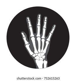 Hand x-ray image icon, vector illustration, use for symbol, wallpaper, background.