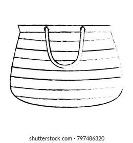 handbag female beach icon