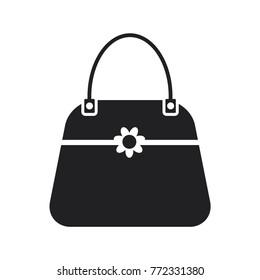 handbag icon, female bag vector icon, shopping bag vector icon