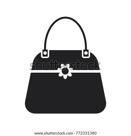 1bcaf128c0 Handbag Icon Female Bag Vector Icon Stock Vector (Royalty Free ...