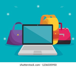 handbags with laptop and backpack to sale price