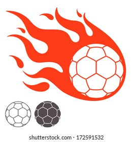 Handball ball. Logo. Vector illustration