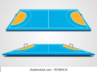 Handball court in perspective