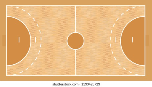 Handball field. vector illustration