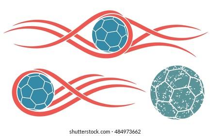 Handball logo. Isolated handball on white background