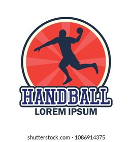 handball logo with text space for your slogan / tag line, vector illustration