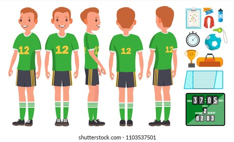 Handball Man Player Male Vector. Player In Attack. Corporate  Branding Identity. Cartoon Athlete Character Illustration