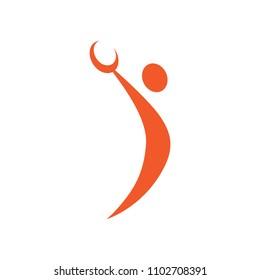 handball player, abstract figure, sport icon