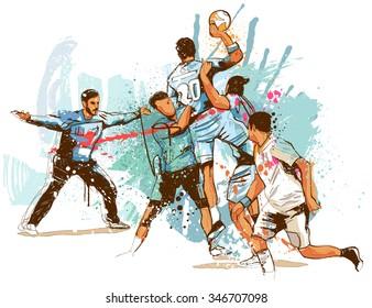 Handball Sketch