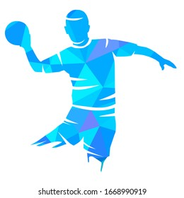 handball sport graphic with a abstract player in vector quality