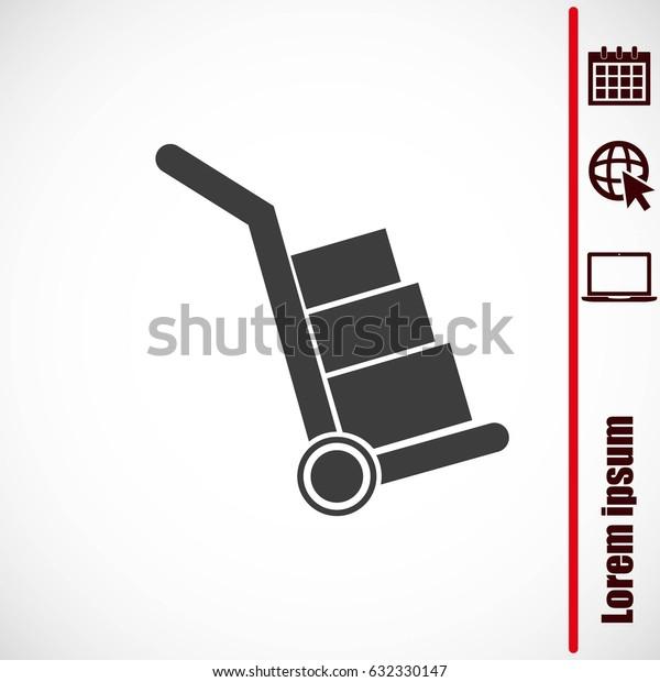 Handcart vector  icon