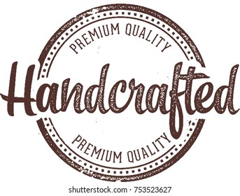 Handcrafted Product Stamp Label
