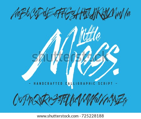 Handcrafted Vector Calligraphic Script Font Dirty Stock