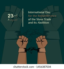 """the handcuff vector design was broken and released for """"International Day for the Remembrance of the Slave Trade and its Abolition"""""""