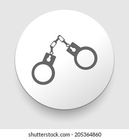 handcuffs icon on white background. EPS10 illustration